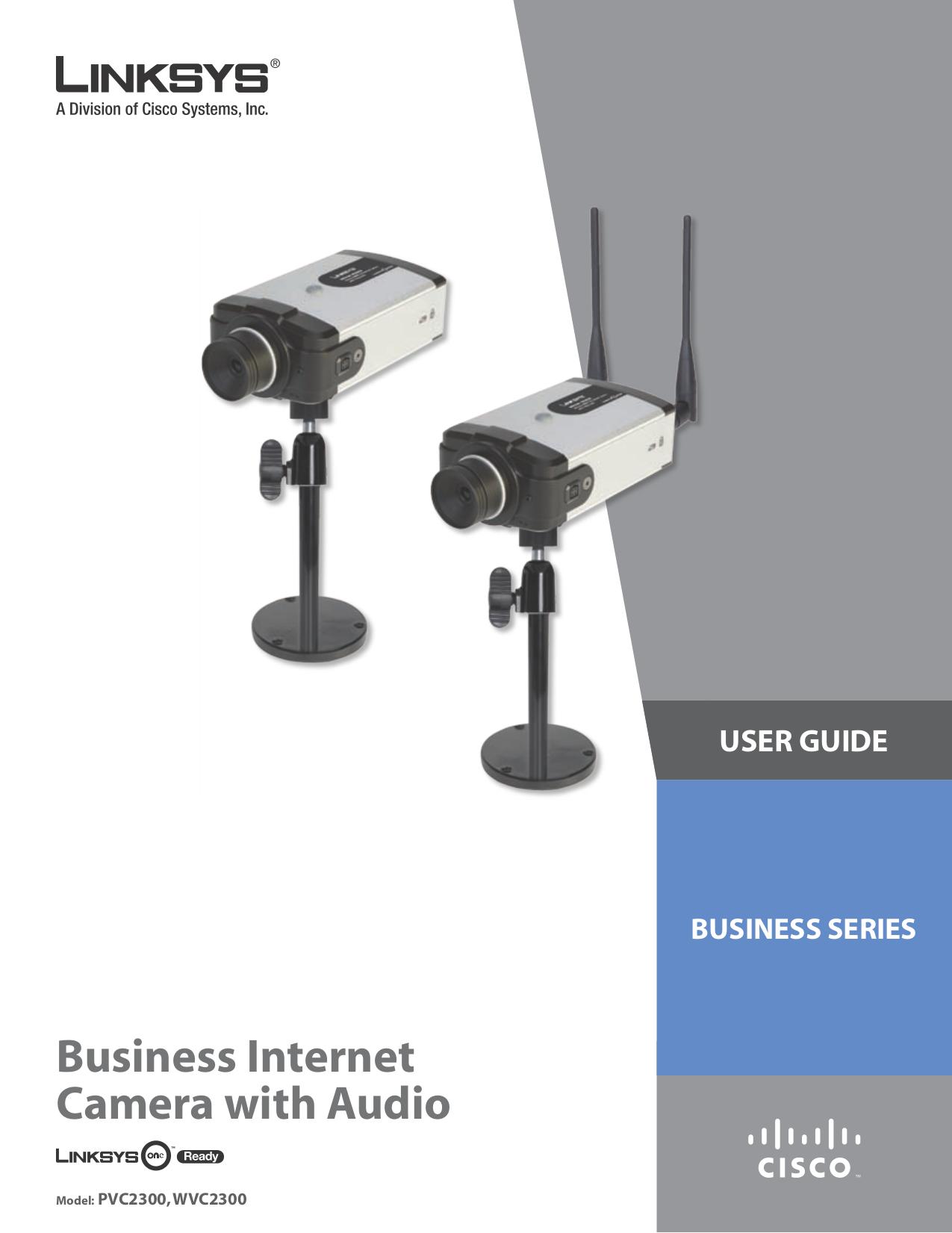pdf for Linksys Security Camera WVC2300 manual