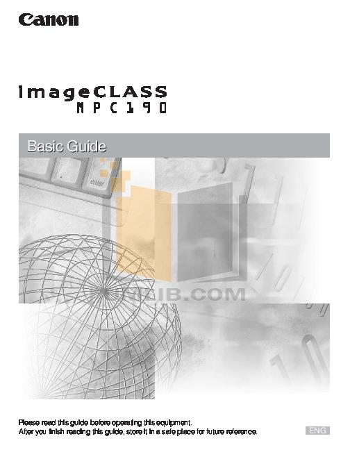 pdf for Canon Printer imageCLASS MPC190 manual