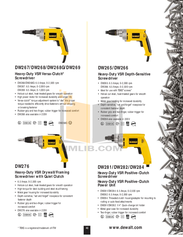 Dw 268 manual