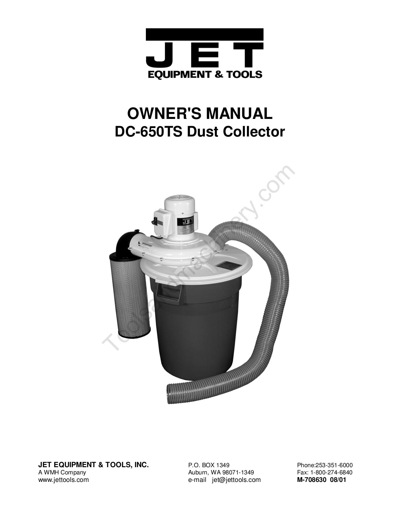pdf for Jet Vacuum DC-650TS manual
