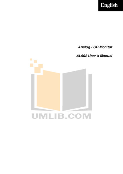 pdf for Acer Monitor AL502 manual