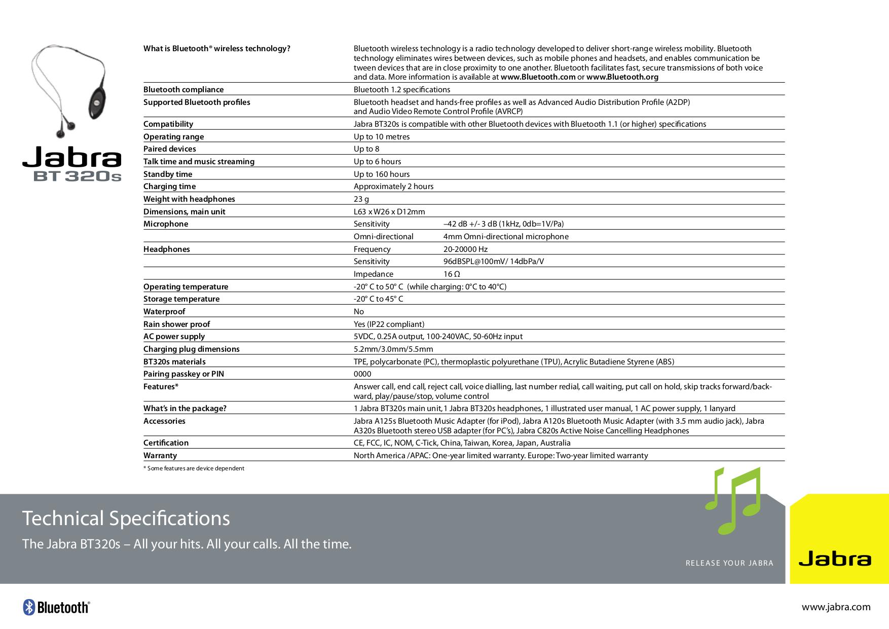 pdf for Jabra Headphone C820s manual