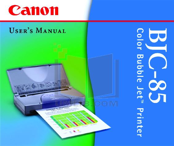 pdf for Canon Printer BJC-85W manual
