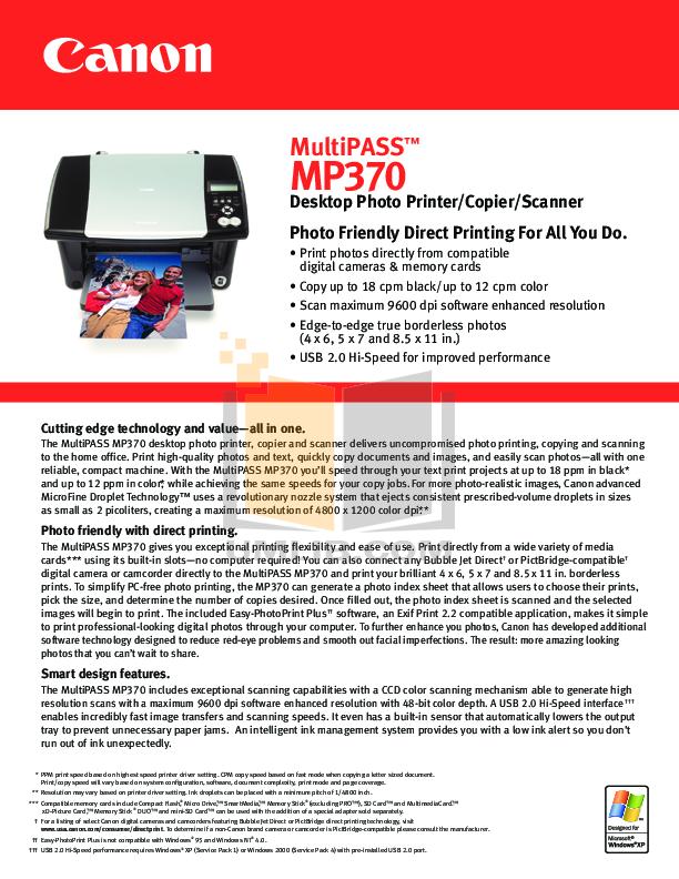 pdf for Canon Printer BJC-S820 manual