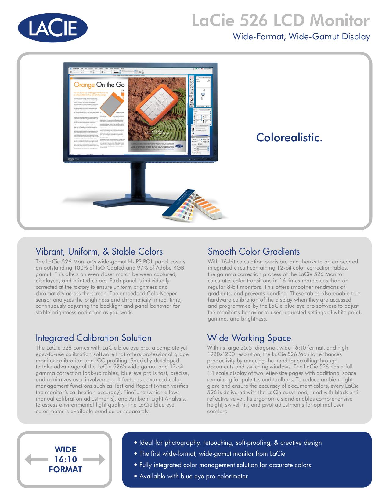 pdf for LaCie Monitor 526 manual