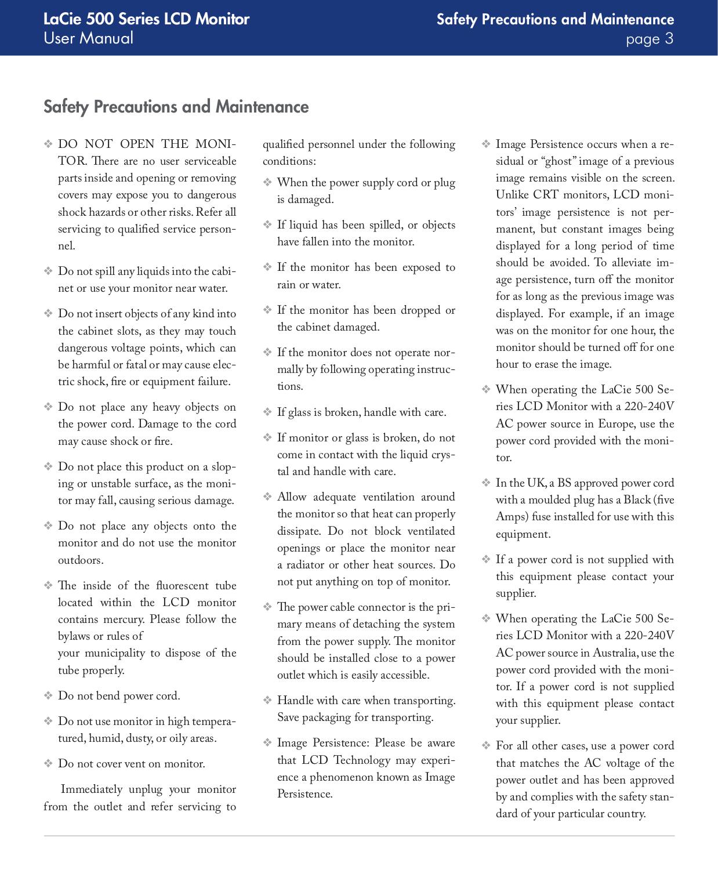 LaCie Monitor 526 pdf page preview