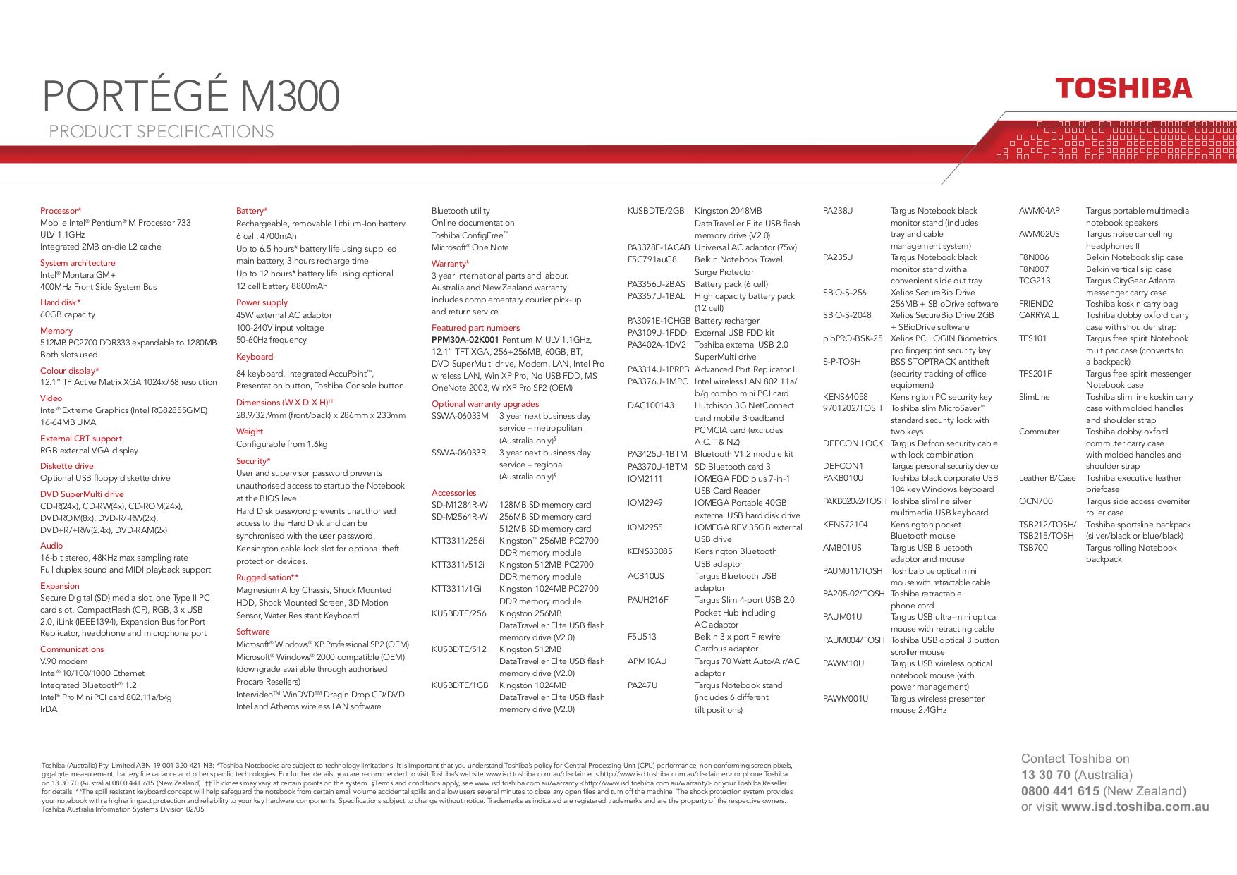 pdf for Targus Headphone AWM02US manual