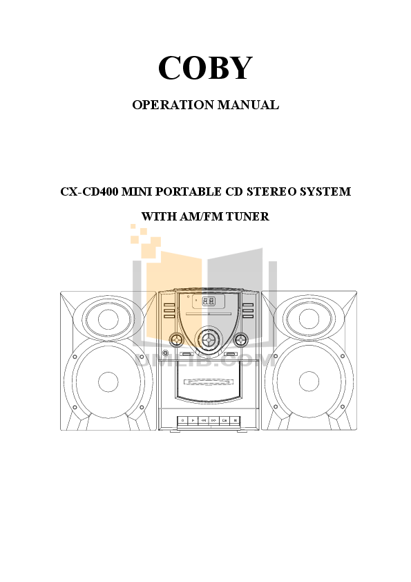 pdf for Coby Boombox CX-CD400 manual