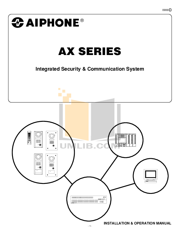 pdf for Aiphone Switch AX-248C manual
