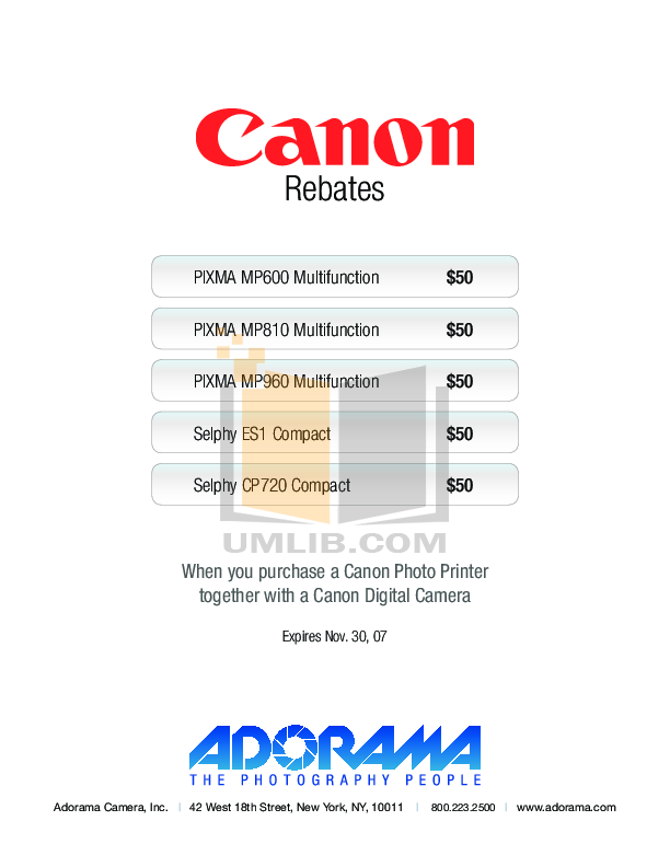 pdf for Canon Printer SELPHY ES1 manual