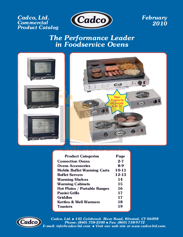 pdf for Cadco Other WTBS-2RT Buffet Servers manual
