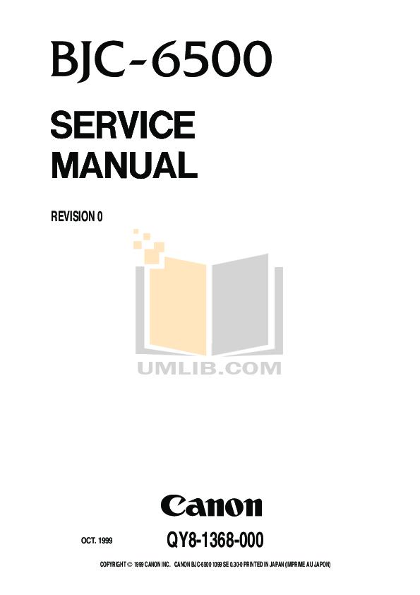 pdf for Canon Printer BJC-6500 manual