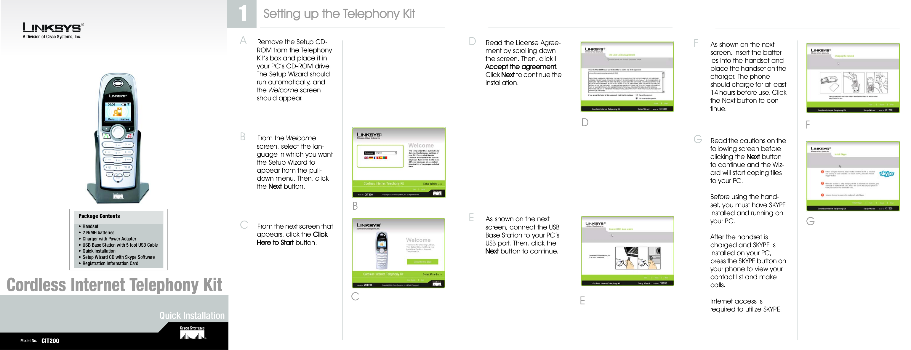 pdf for Linksys Telephone CIT200 manual