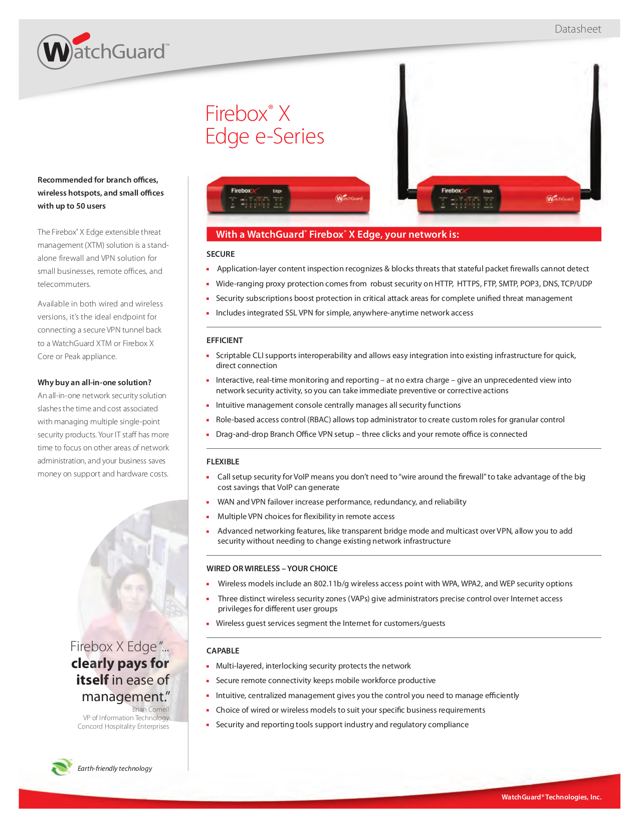 pdf for Watchguard Wireless Router Firebox X20E-W manual
