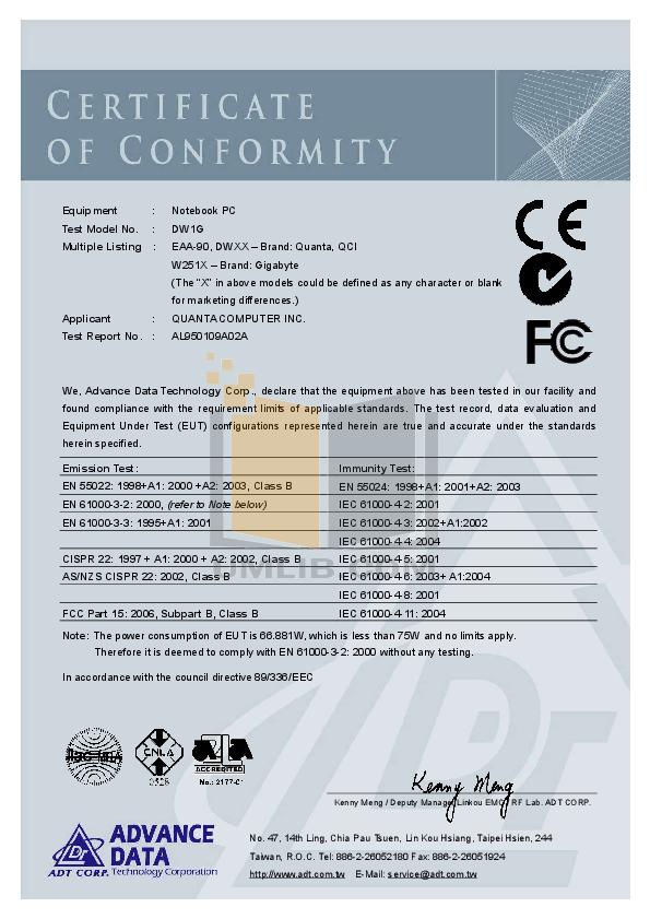 pdf for Acer Monitor AL1751 manual
