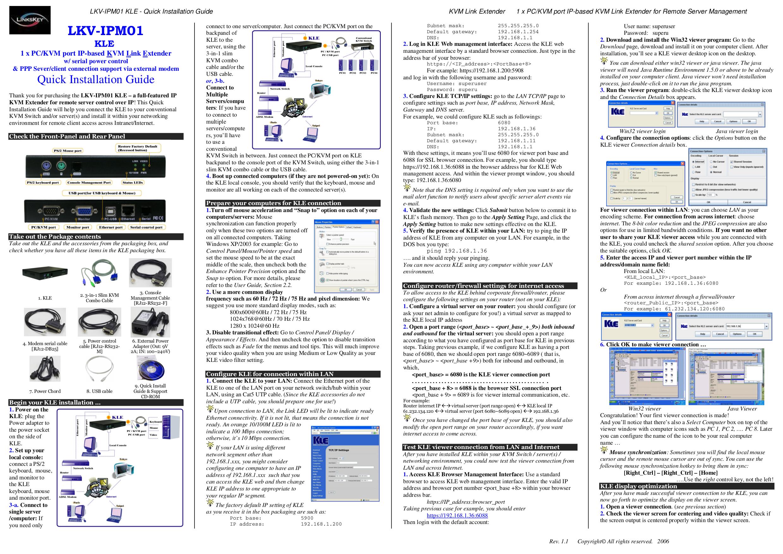 pdf for Linkskey Other LKV-IPM01 KVM Extenders manual