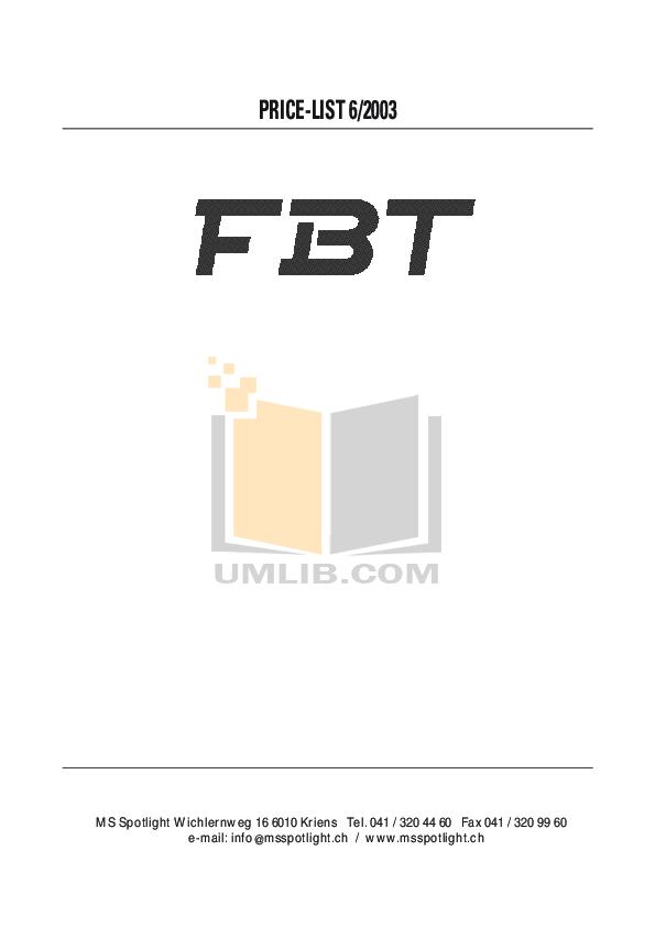 pdf for Fbt Subwoofer PSR 118s manual