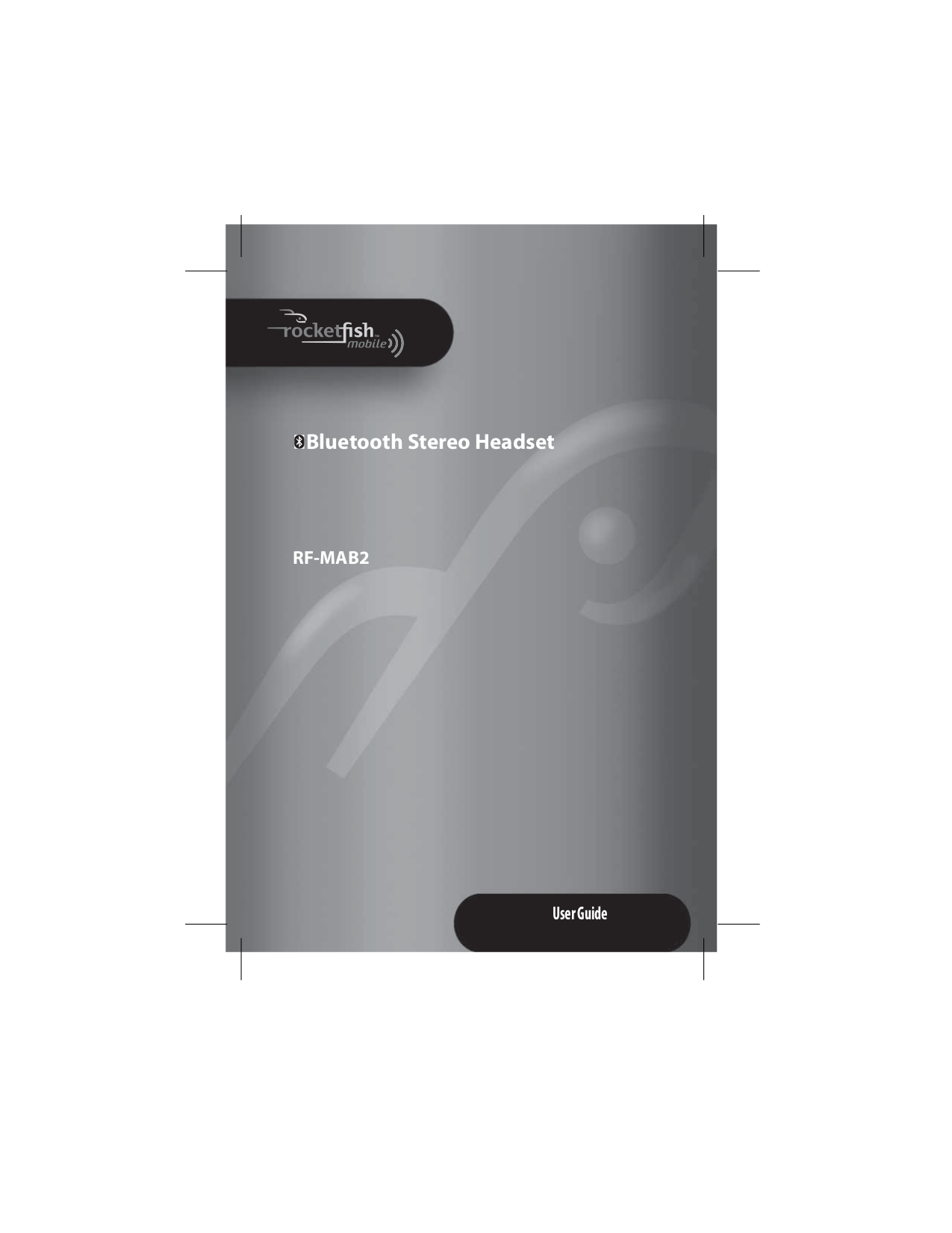 pdf for Rocketfish Headphone RF-MAB2 manual