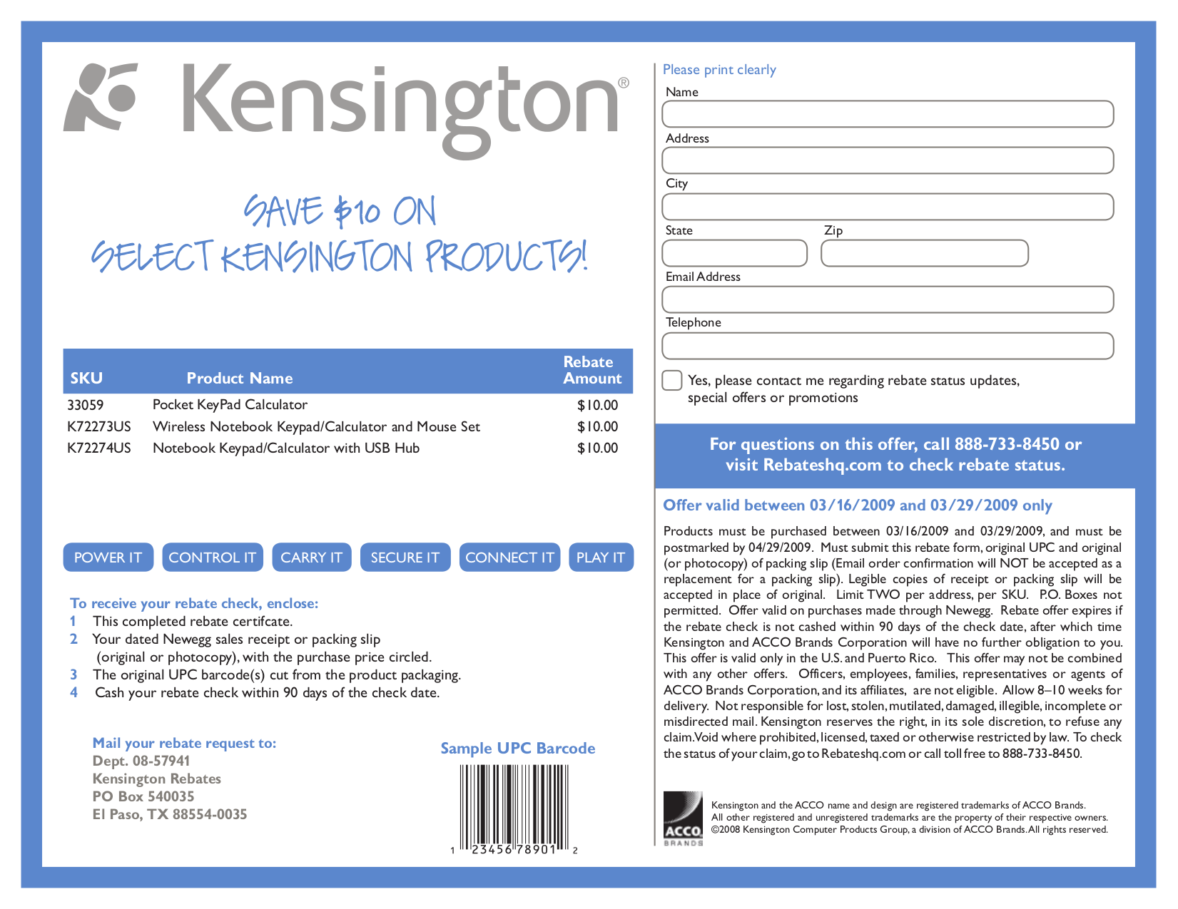pdf for Kensington Keyboard K72273US manual
