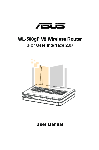 pdf for Asus Wireless Router WL-500b manual