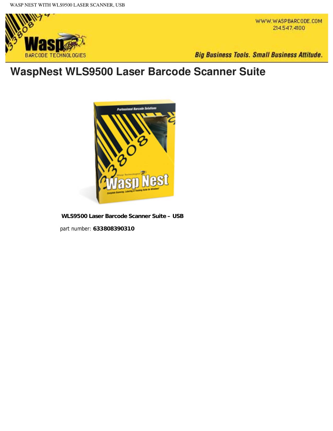 pdf for Wasp Printer WLS9500 manual