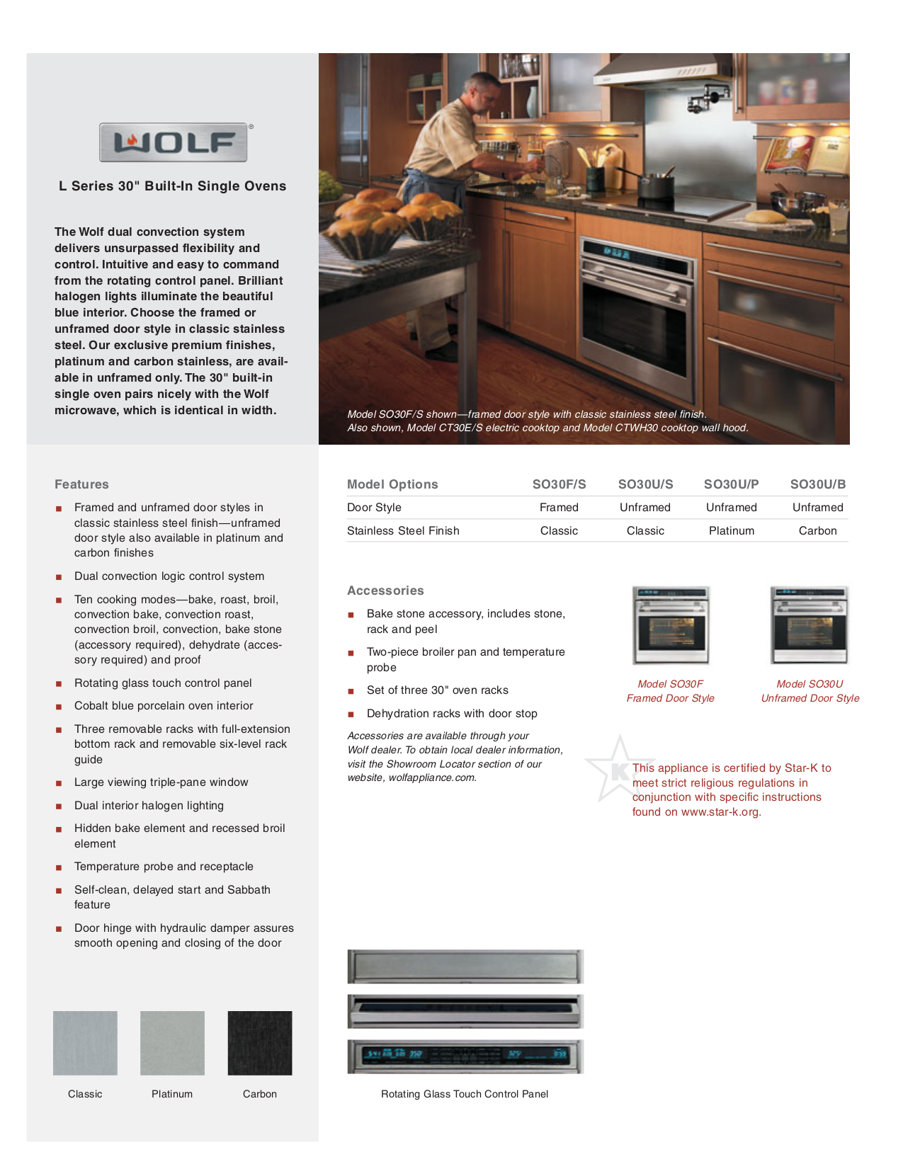 pdf for Wolf Oven L Series SO30F manual