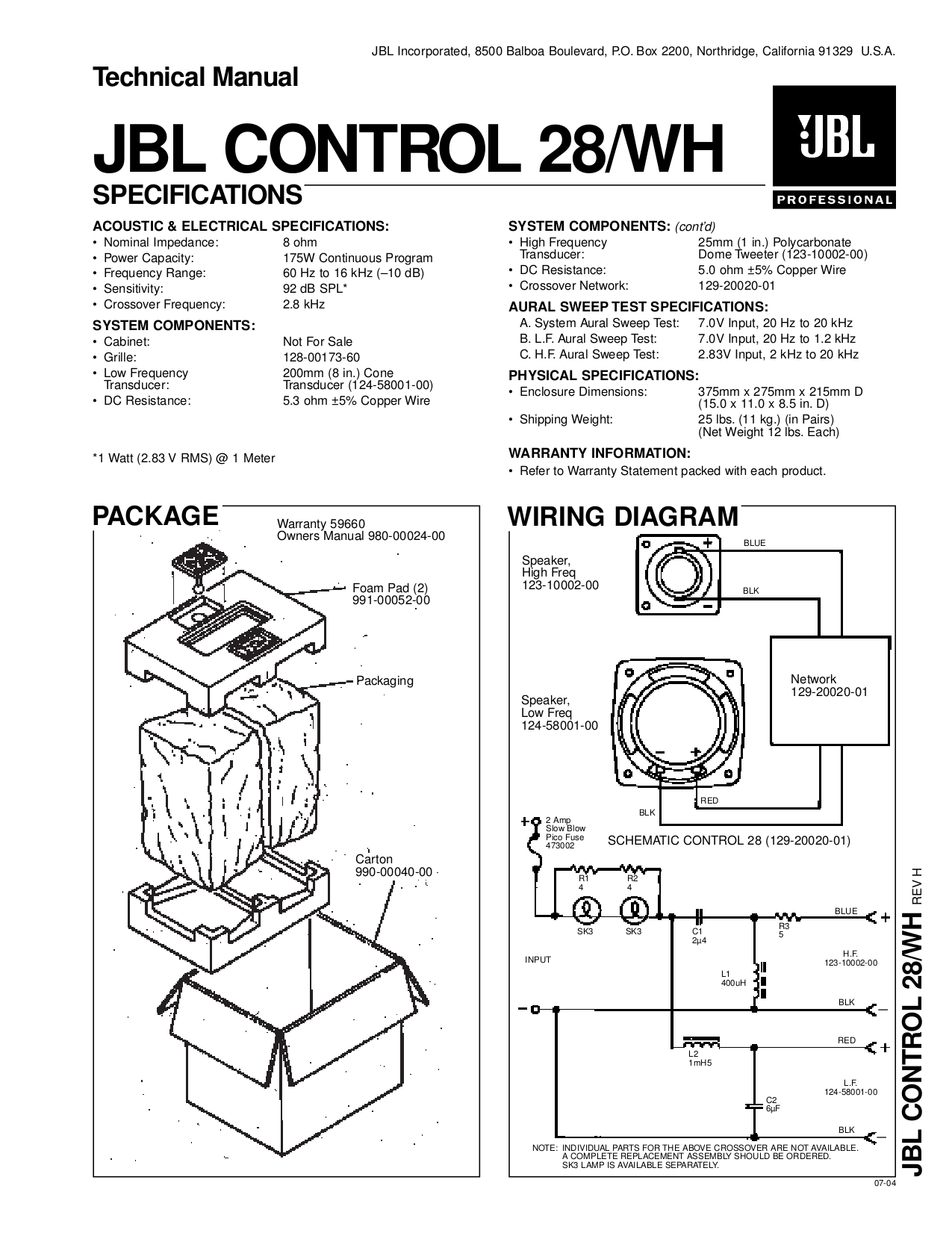 Jbl Speakers Wiring Diagram Electrical Diagrams Control 25 Easy U2022 Subwoofer