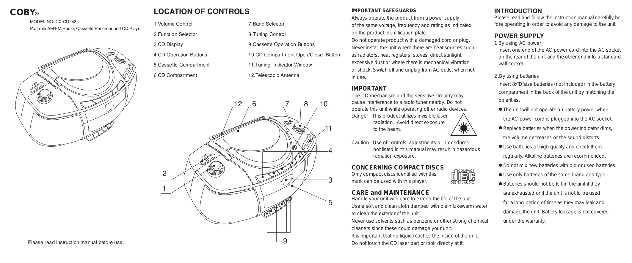 pdf for Lenoxx Other CD-108 Cassette Recorders manual