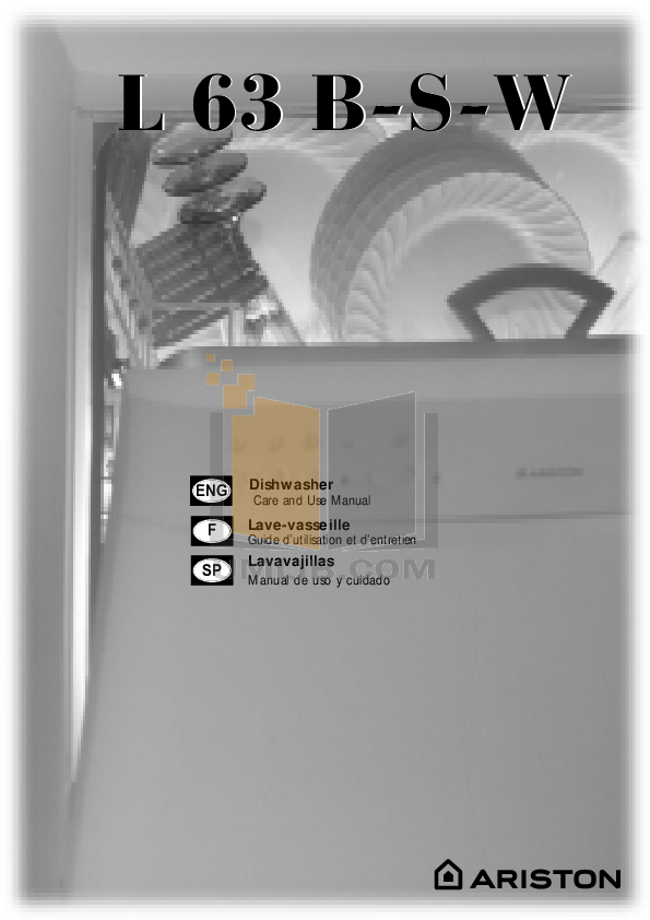 Ariston Dishwasher L 63 B NA pdf page preview