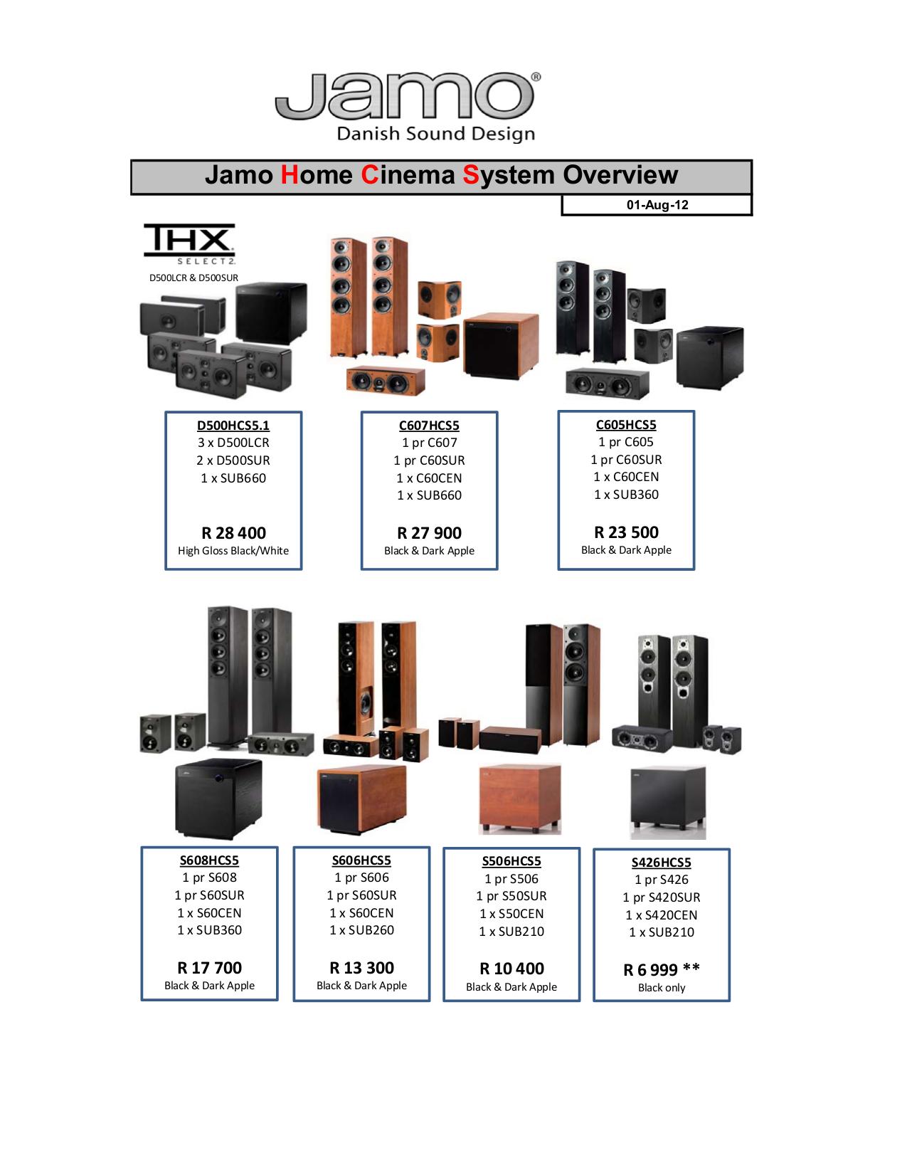 pdf for Jamo Speaker System S 426 HCS 3 manual
