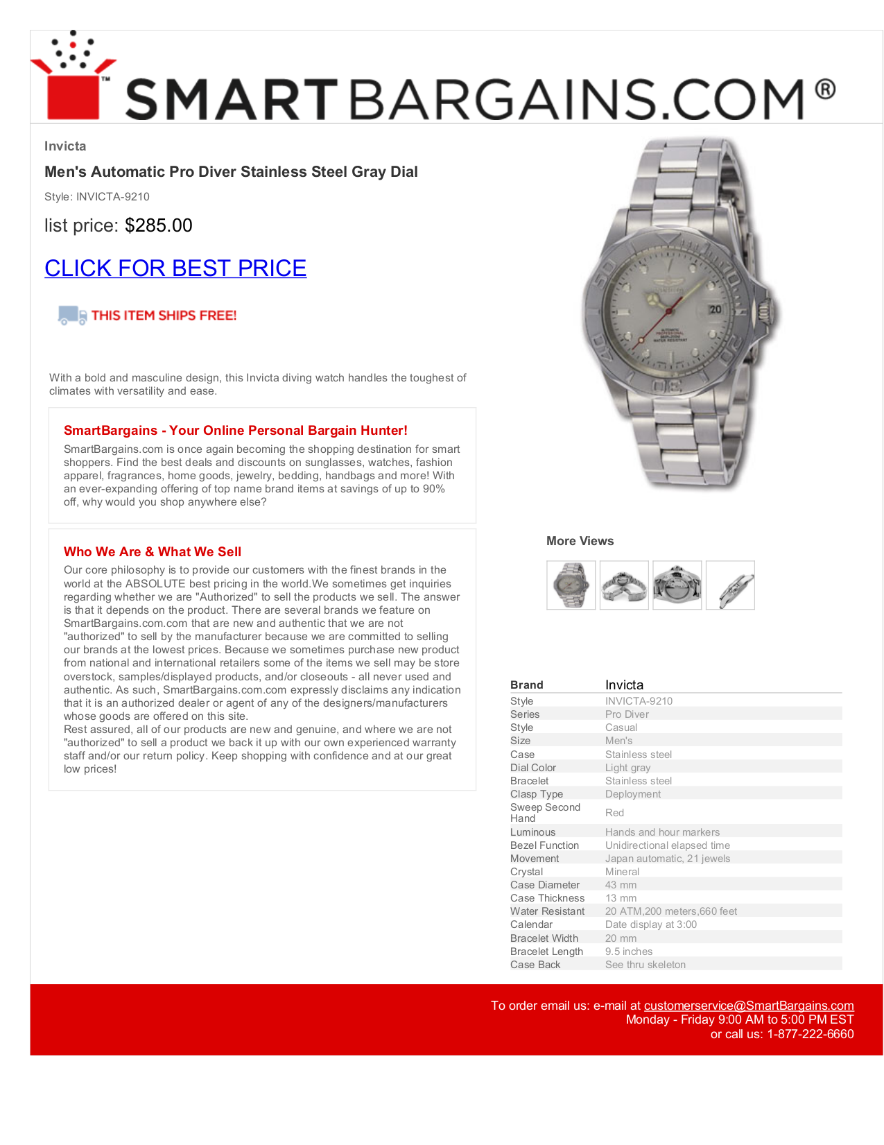 Download Free Pdf For Invicta Pro Diver 9210 Watch Manual Schematic 43