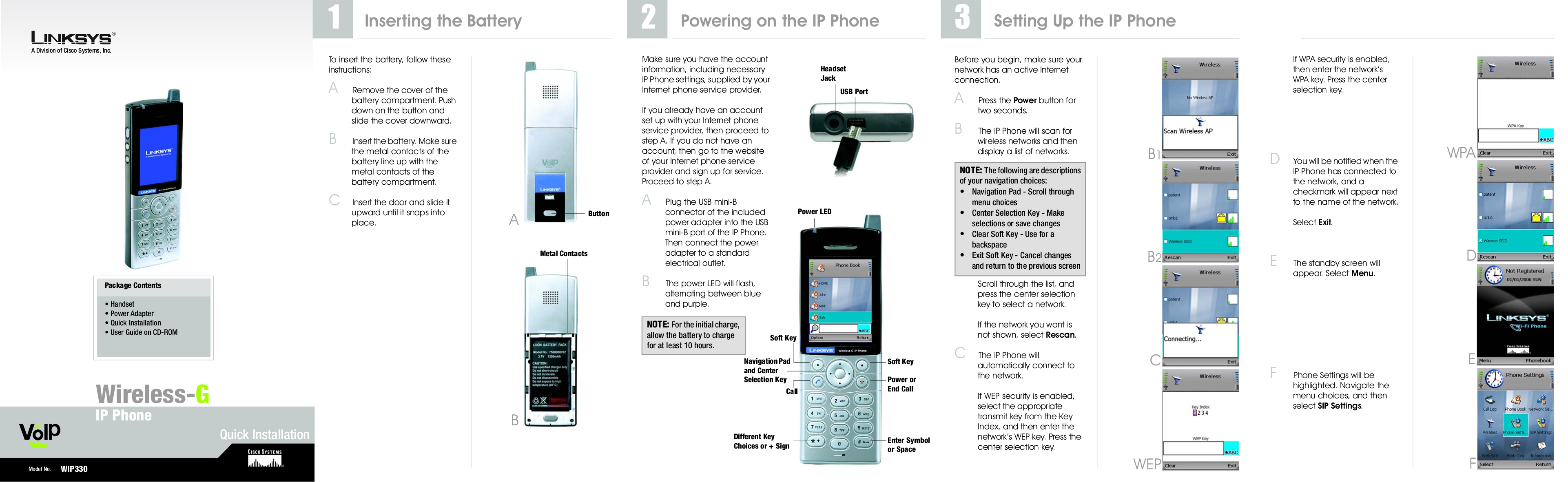 pdf for Linksys Telephone WIP330 manual