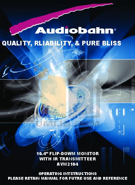 pdf for Audiobahn Car Video AVM2104V manual