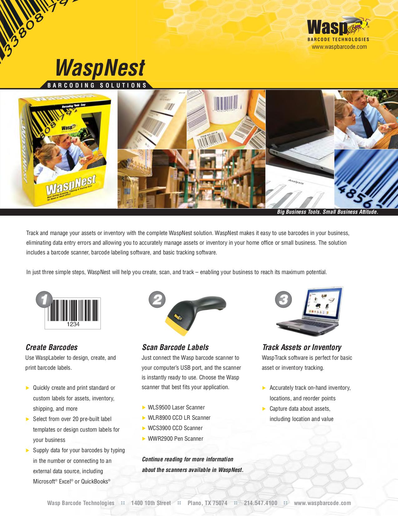 pdf for Wasp Scanner WLR8900 manual