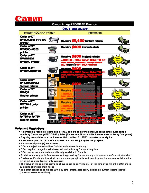 pdf for Canon Printer imagePROGRAF iPF9100 manual