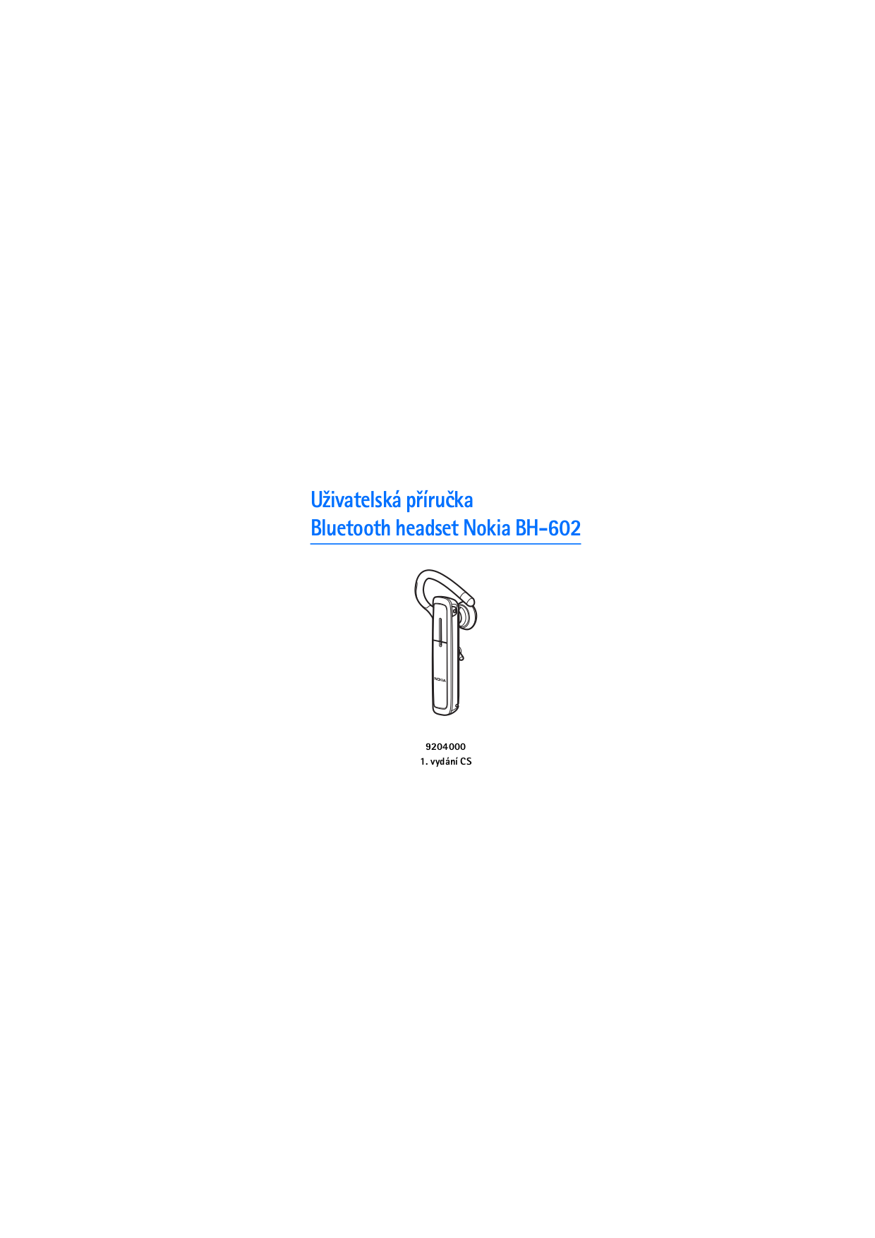 pdf for Nokia Headset BH-602 manual