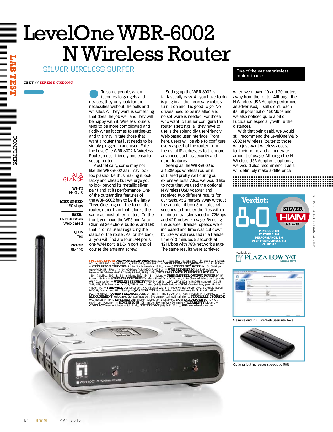 pdf for LevelOne Wireless Router WBR-6002 manual