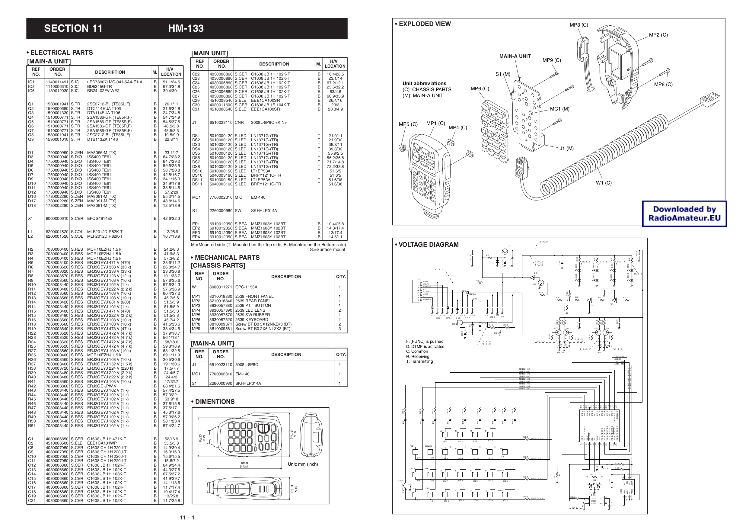 Hm 154t Microphone Manual Icom Hm Schematic Diagram on