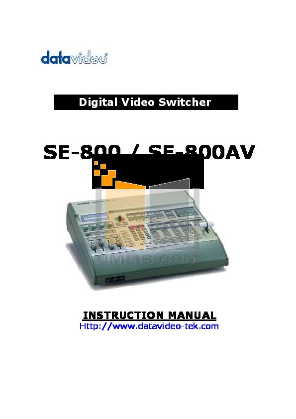 Datavideo Se800 Manual Pdf