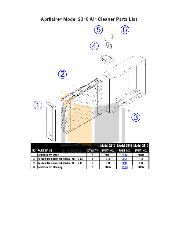 pdf for Aprilaire Air Purifier 4300 manual