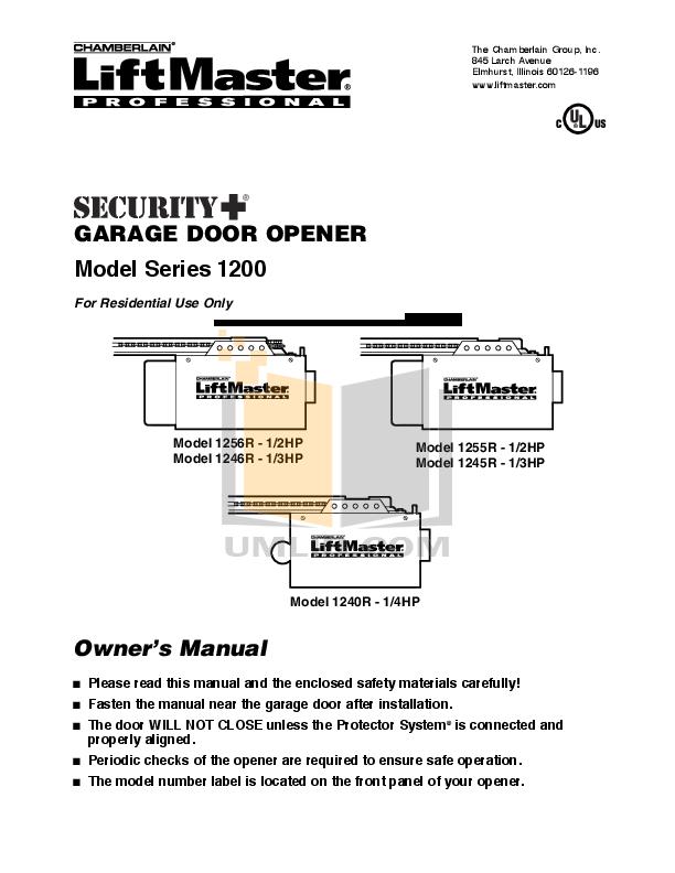 Chamberlain Liftmaster Craftsman 940ev Manual Guide