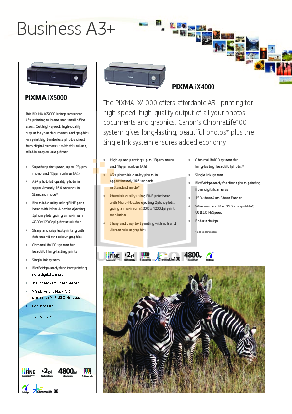 pdf for Canon Printer PIXMA iX5000 manual