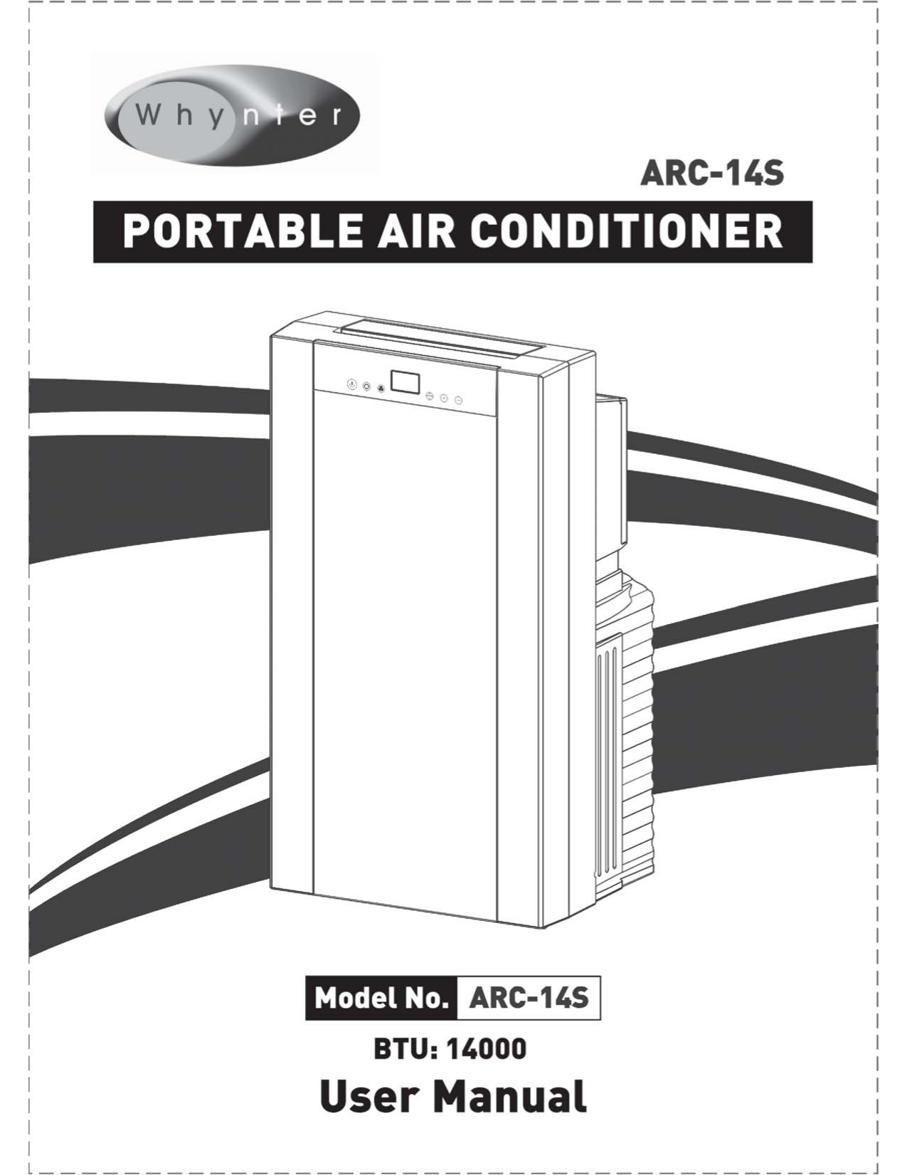 pdf for Whynter Air Conditioner ARC-14S manual
