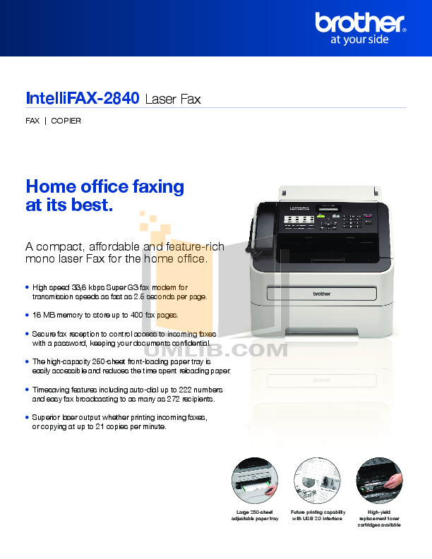 Brother 827s Fax machine Manual