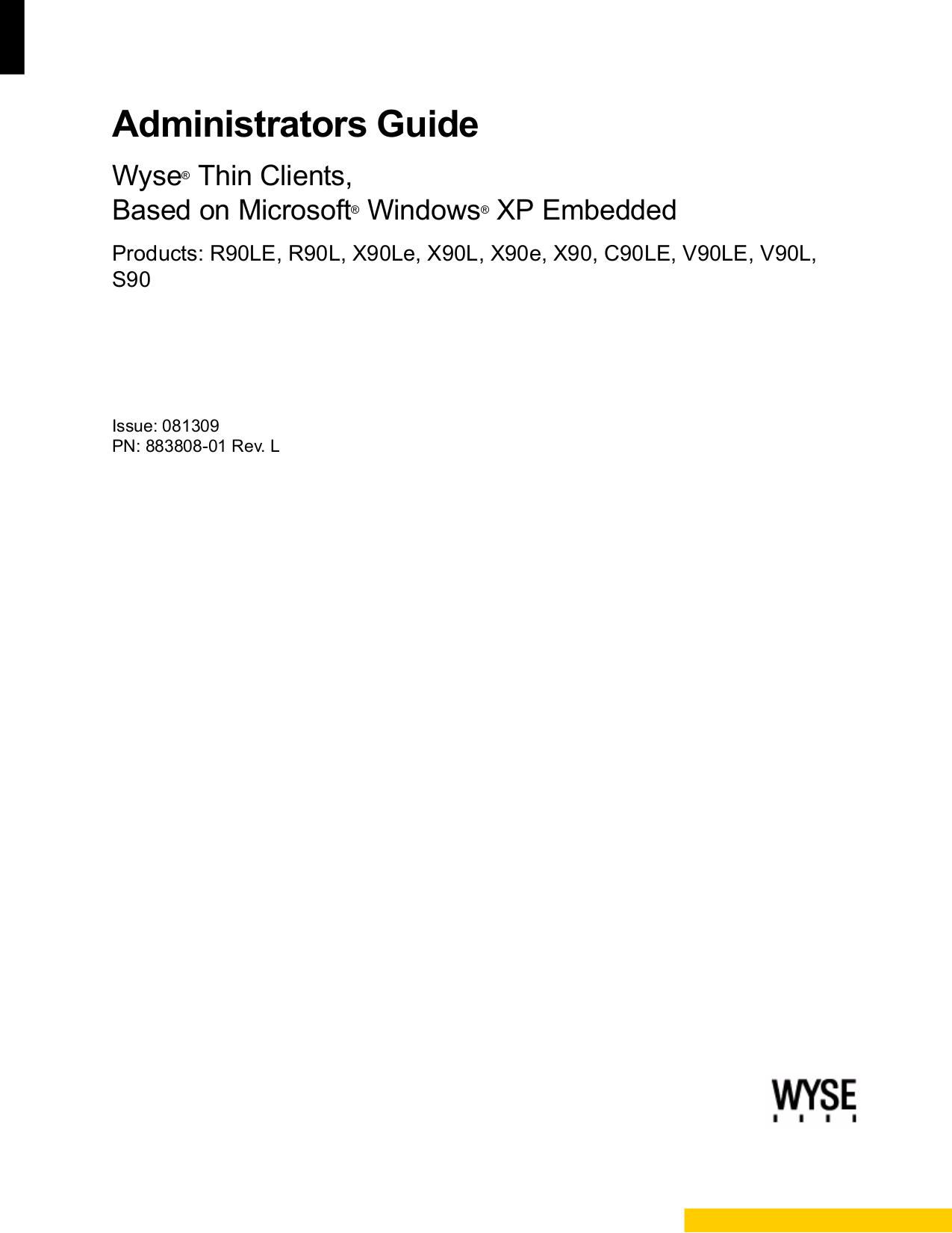 pdf for Wyse Desktop Winterm S10 manual
