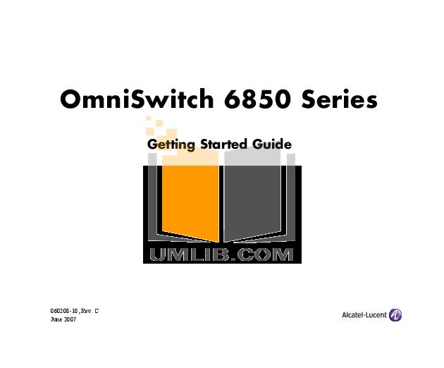 Alcatel Omniswitch 7700 Manual