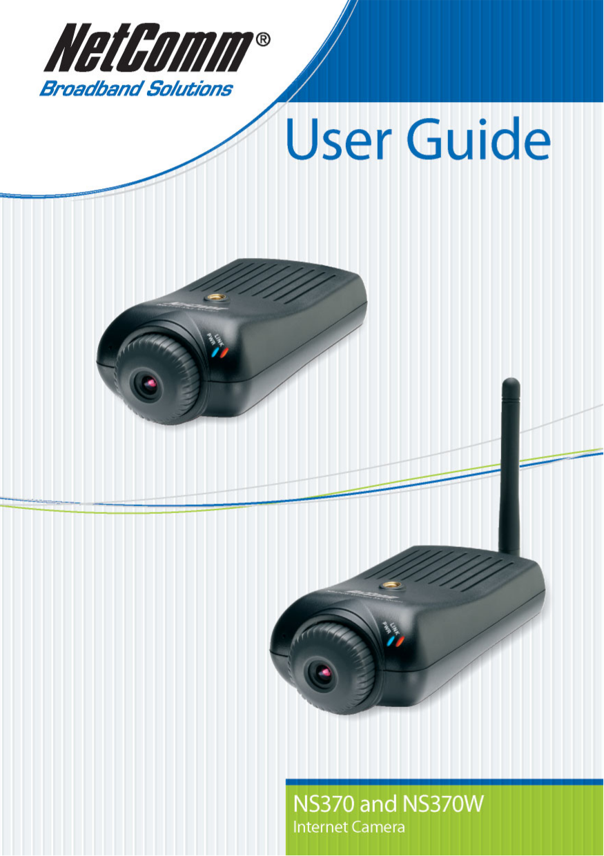 pdf for Netcomm Security Camera NS370W manual