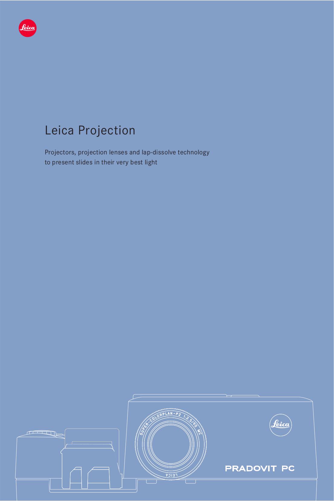 pdf for Leica Projector Pradovit PC manual