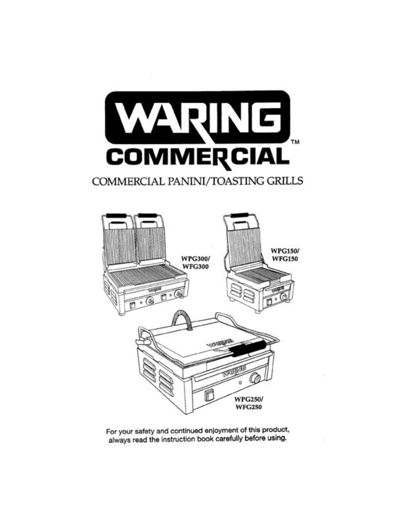 pdf for Waring Grill WPG250B manual