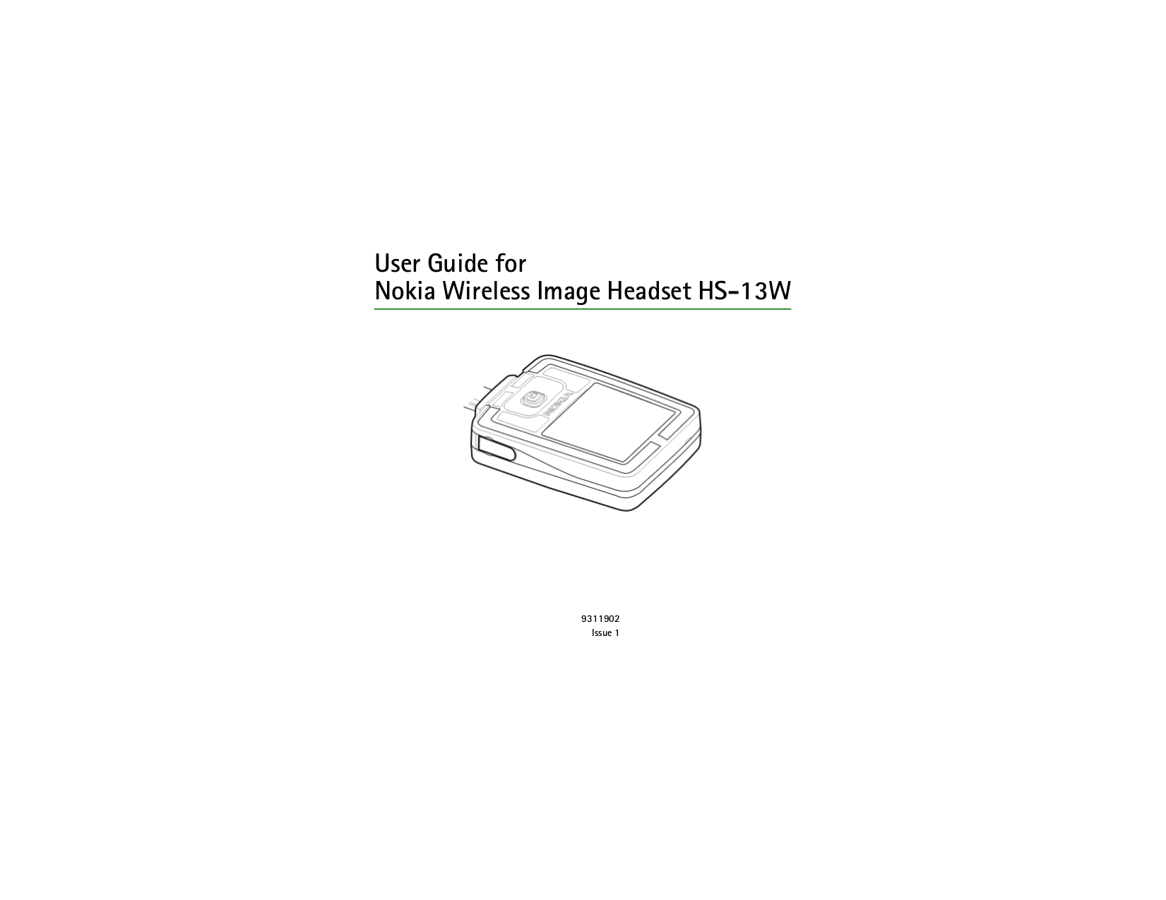 pdf for Nokia Headset HS-13W manual